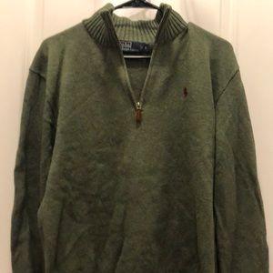 Polo half zip sweater